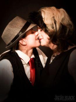 kissing at the gala ball