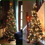 Christmas trees are decorated – 1st is red/kids ornaments one in family room and 2nd has silver ornaments in our hallway. Third tree pic another day!