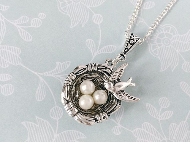 One of my most requested Janmary Designs pendants back in stock – nest pendant with bird and eggs …. just £10