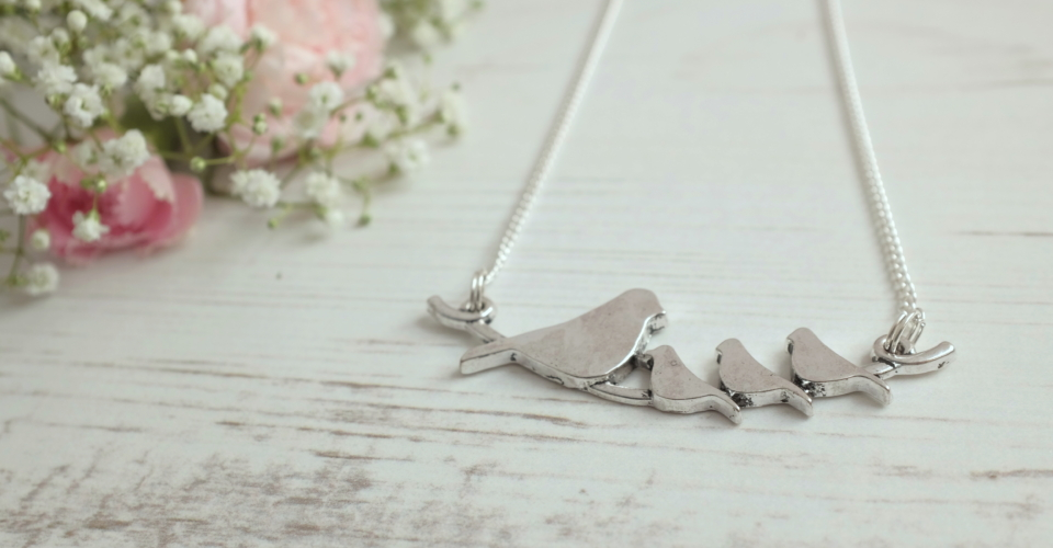 nestling bird family necklace janmary designs