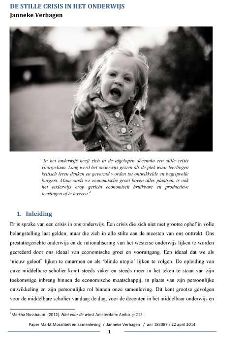 stillecrisisinhetonderwijs