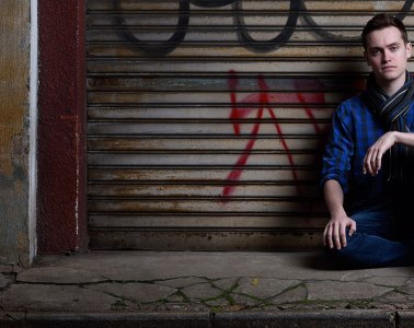 Adam Fielon: first shots for his modelling portfolio