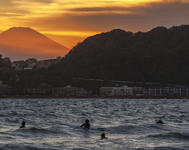 Sunset from Kamakura north beach