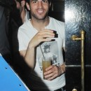 EXCLUSIVE ALL-ROUND PICTURES - Cesc Fabregas is all smiles as he enjoys a drink at Whisky Mist, London, UK