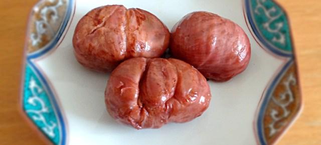 Châtaignes en sirop léger  栗の渋皮煮