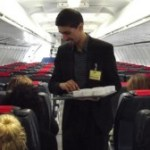 Zeeshan serving onboard the Boeing 737 aircraft
