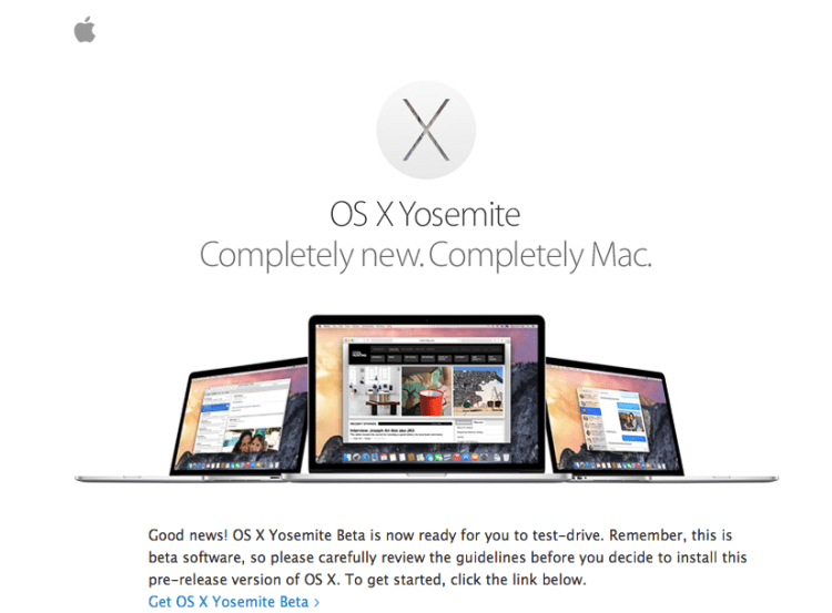 yosemite mac beta test invite