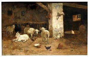 Christmas stable nativity