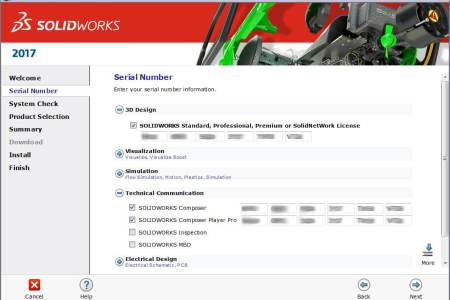 solidworks serial number install manager