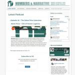 numbersandnarrative.com website by Jayel Draco