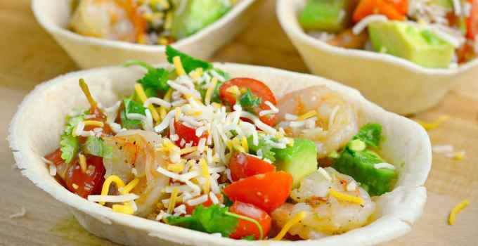 Garlic Butter Shrimp Taco Boats
