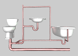 Toilet, Tub, and Sink Wet Vent