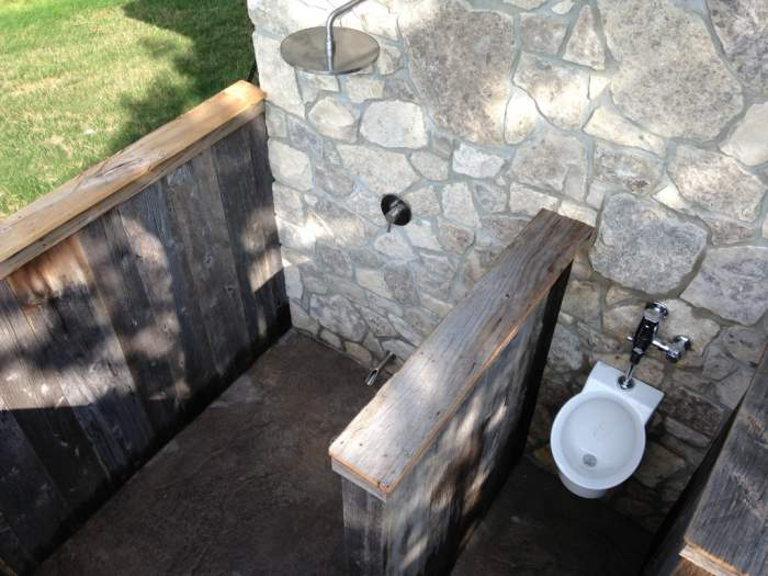 Outdoor Shower and Urinal