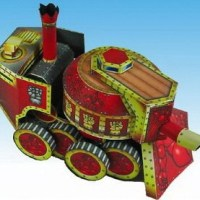 Steam Tank - Steampunk Paper Craft Model