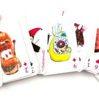 Deck of Playing Cards With Punny Watercolor Illustrations