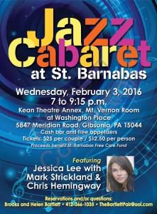 Jazz Cabaret Feb 3, 2016