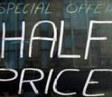 handwritten special offer 50 off