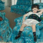 Cassat- Little girl in blue arm chair