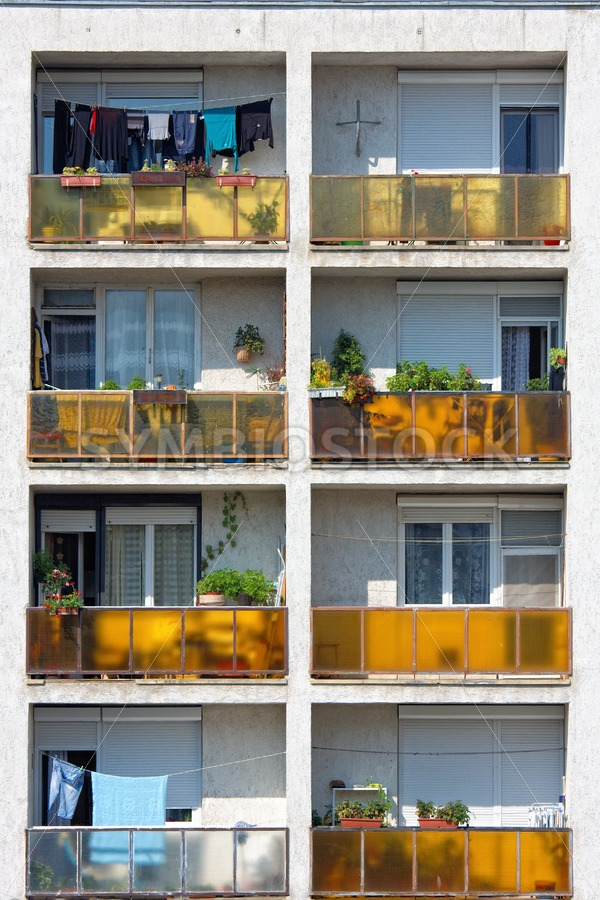 Apartment balcony - Jan Brons Stock Images