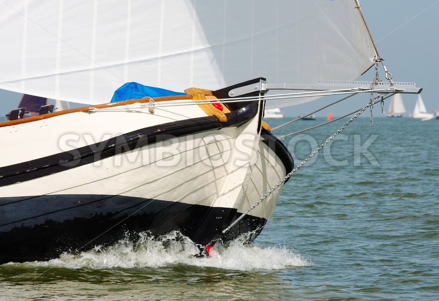 Bow of skutsje - Jan Brons Stock Images