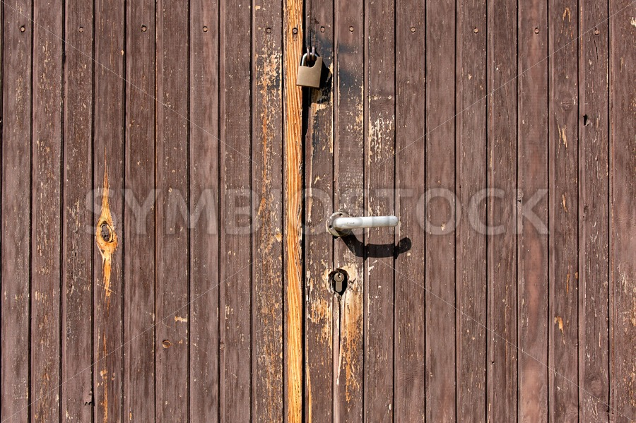 Brown wooden doors - Jan Brons Stock Images