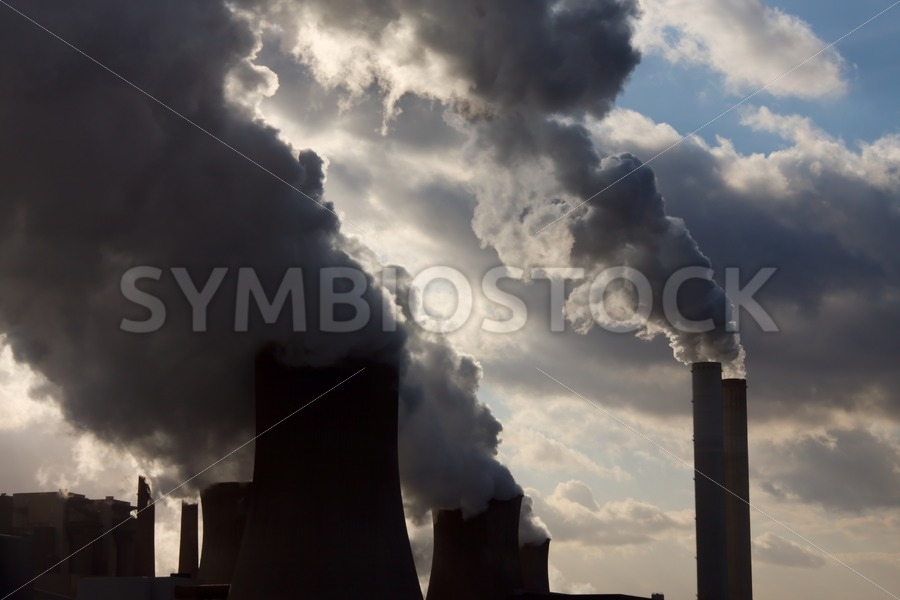 Coal power station burning fossil fuels - Jan Brons Stock Images