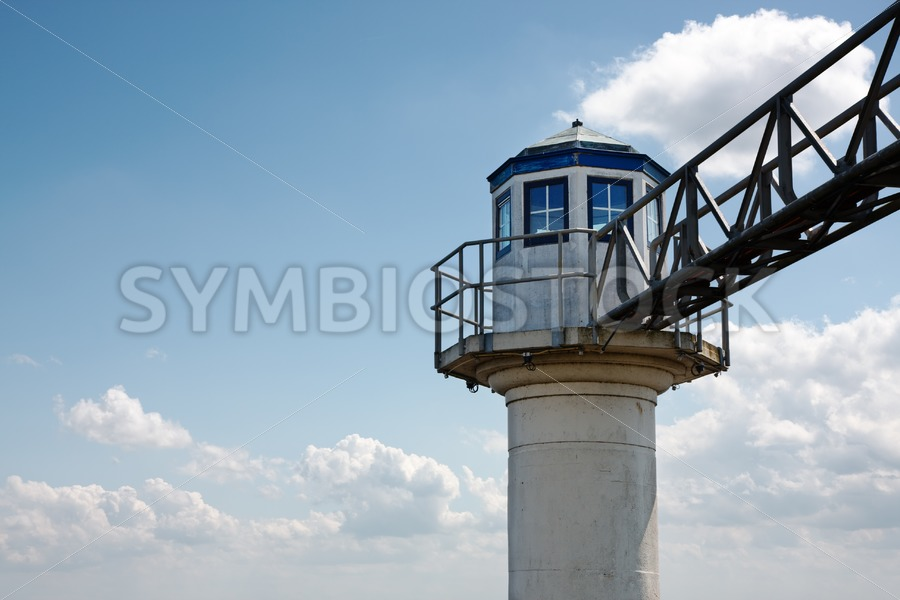 Concrete tower with bridge - Jan Brons Stock Images
