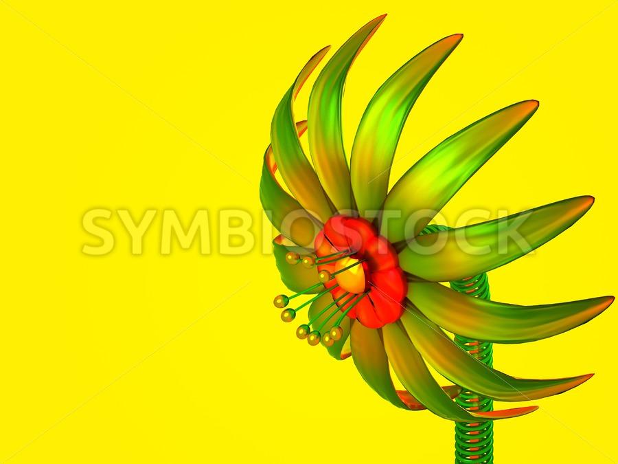Digital Glass Flower - Jan Brons Stock Images