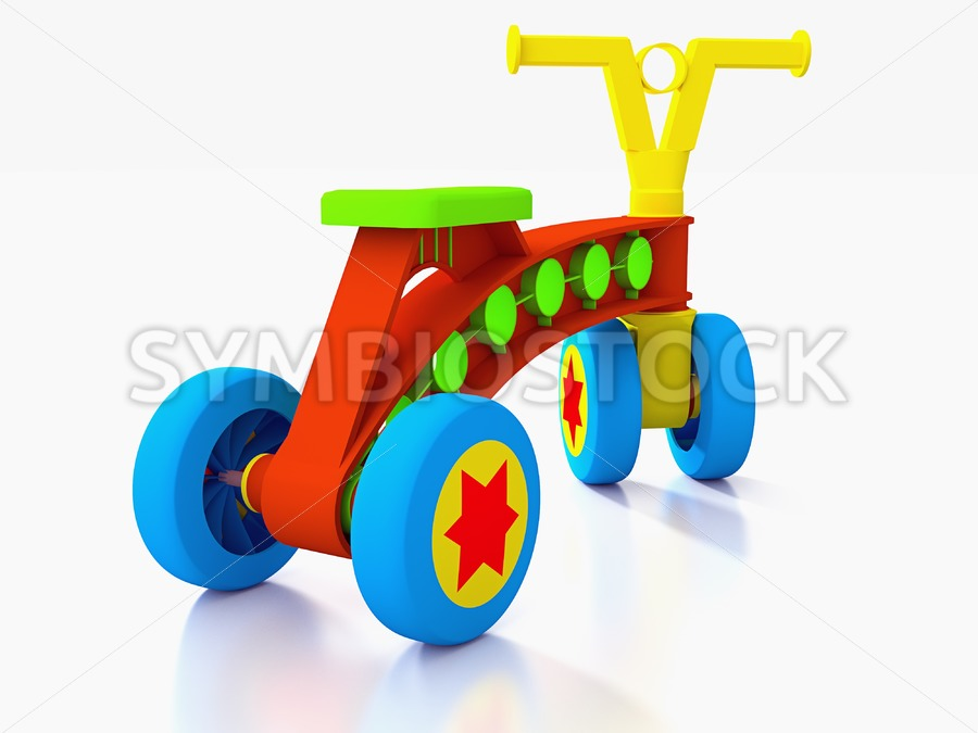 Four wheeled kids toy bike. - Jan Brons Stock Images