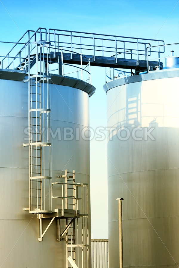 Fuel storage tanks - Jan Brons Stock Images