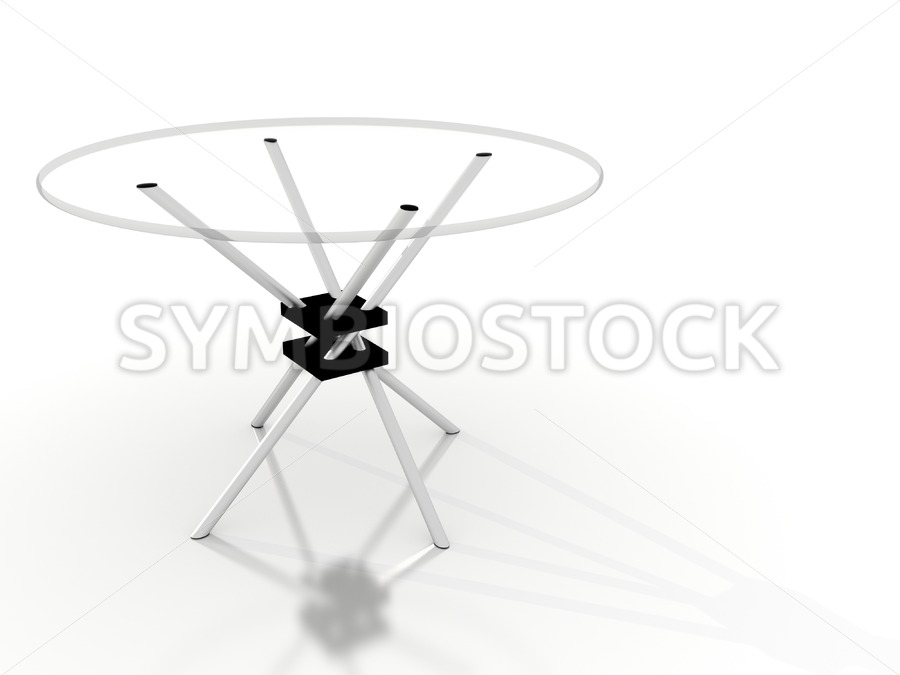 Glass table. - Jan Brons Stock Images