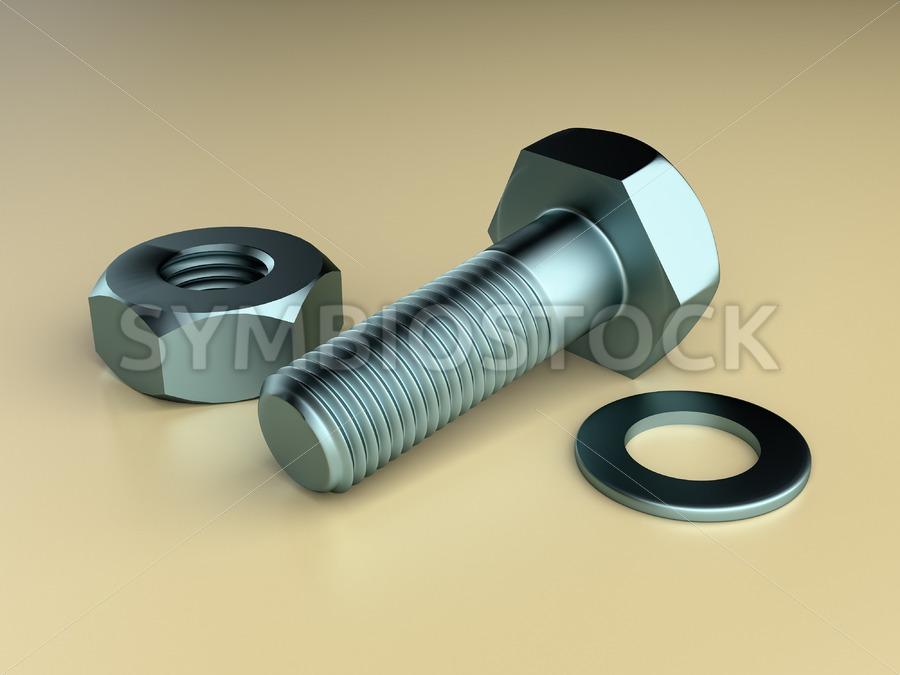 Nut Bolt Washer - Jan Brons Stock Images