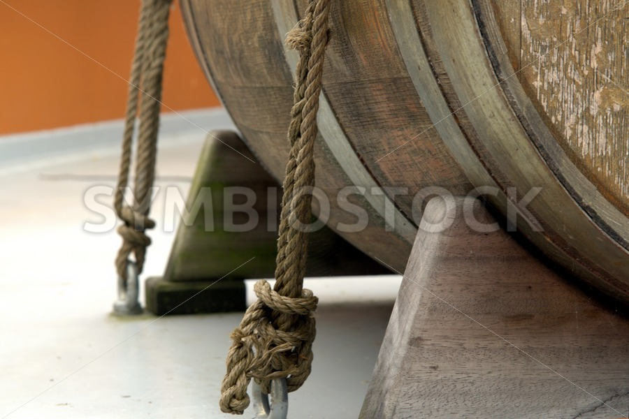 Old wooden ships barrel
