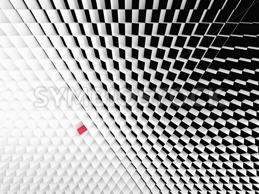 Perspective view Black White cubes - Jan Brons Stock Images