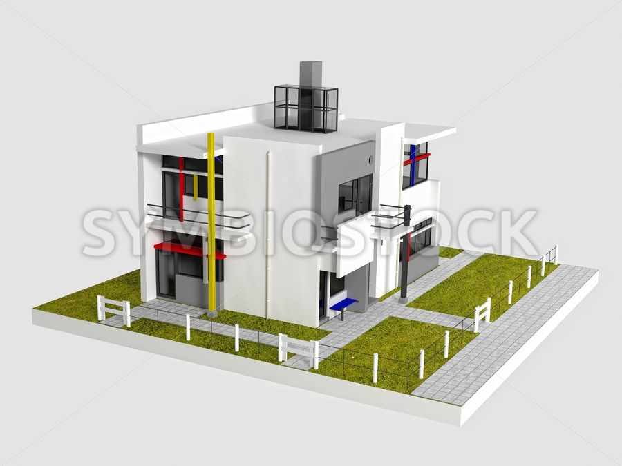 Rietveld Schroder West view - Jan Brons Stock Images
