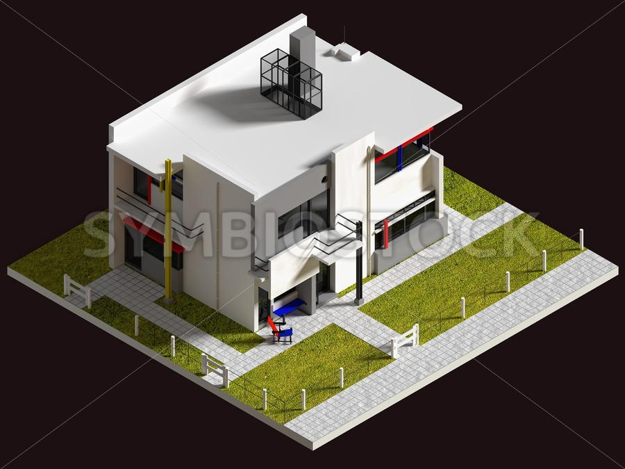 Rietveld Schroderhouse - Jan Brons Stock Images