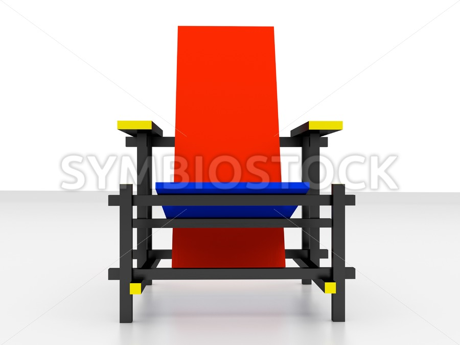 Rietveld chair front view - Jan Brons Stock Images