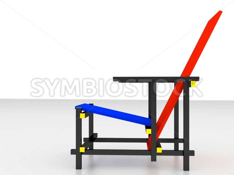 Rietveld design chair - Jan Brons Stock Images