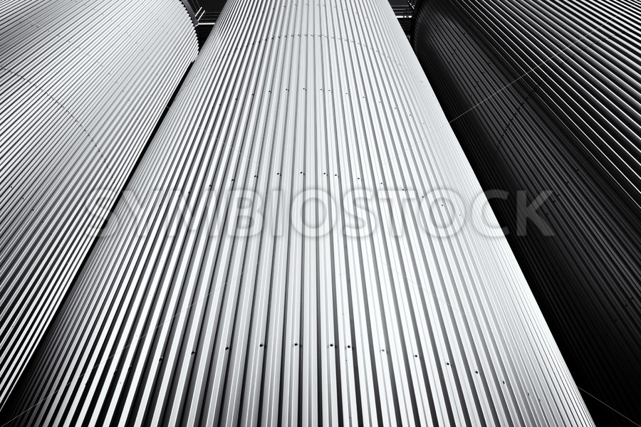 Three silo's in Black and White - Jan Brons Stock Images