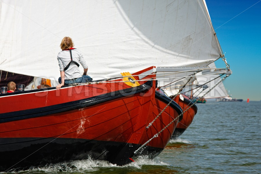 Watching the sails - Jan Brons Stock Images