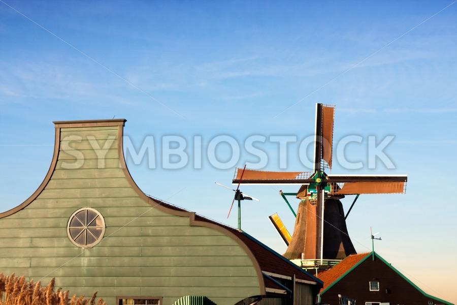 Windmill barn - Jan Brons Stock Images