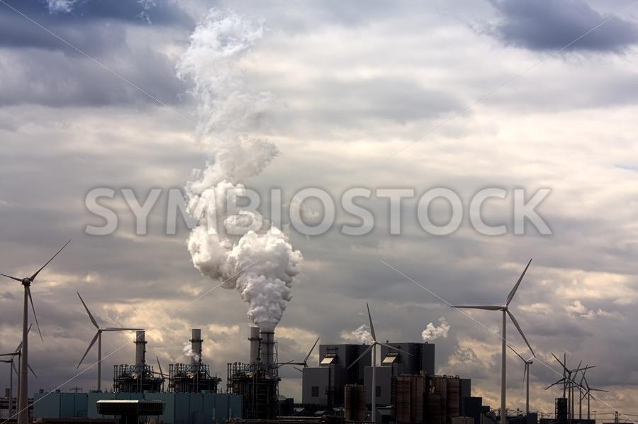 Grim energy landscape - Jan Brons Stock Images