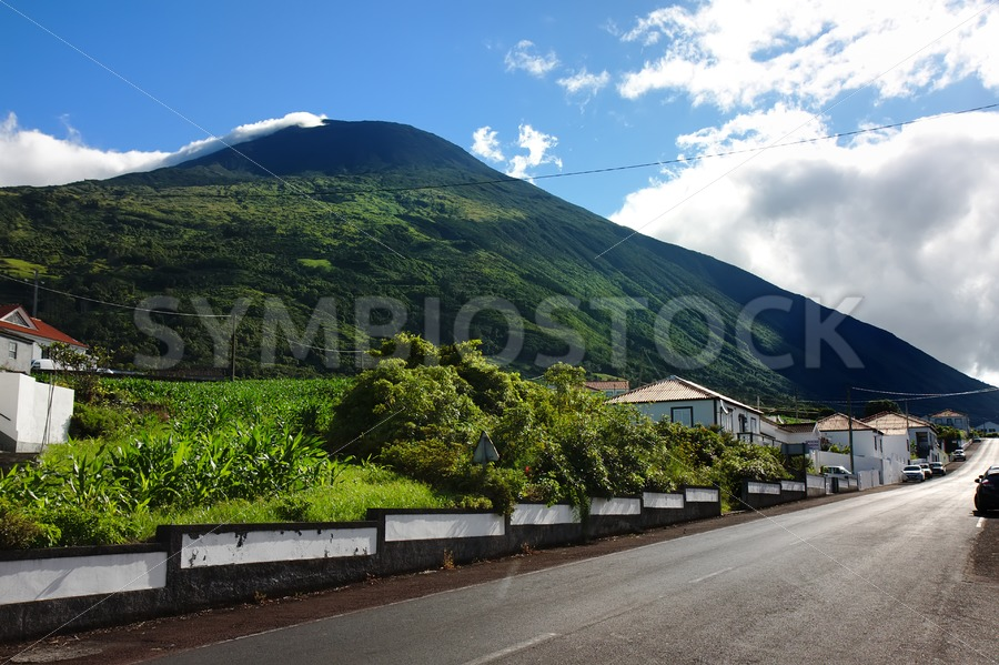 Azores village street - Jan Brons Stock Images