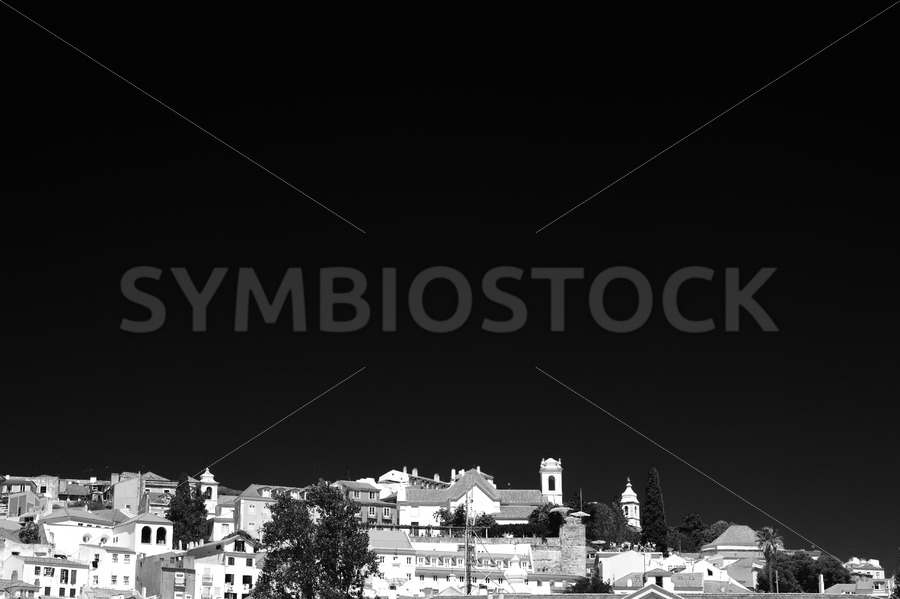Lisbon city view in Black White - Jan Brons Stock Images
