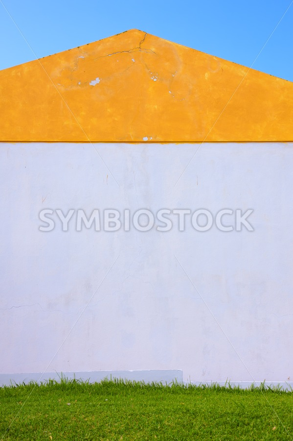 Orange White Green House Symmetry - Jan Brons Stock Images