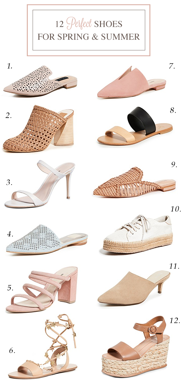 12 perfect shoes for spring and summer