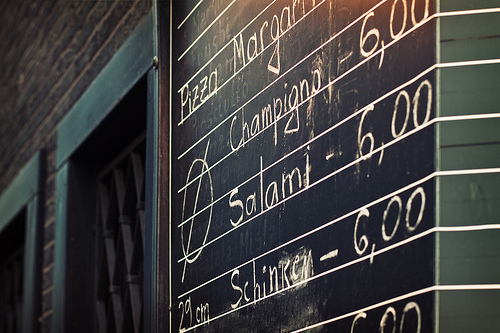 New menus -- but this blog does not yet offer salami.