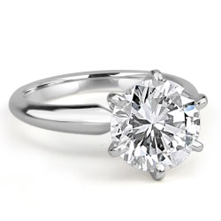 Small Crop Of Round Cut Engagement Rings