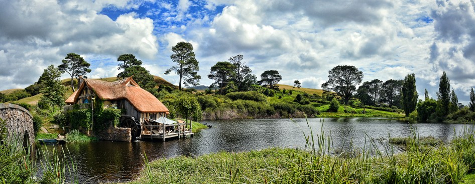 Matamata - Hobbiton - New Zealand 2016 - Panorama