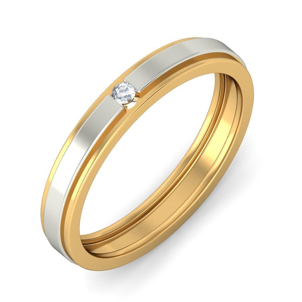 28 diamond wedding bands diamond wedding band Affordable Round Diamond Wedding Band in Two Tone Gold
